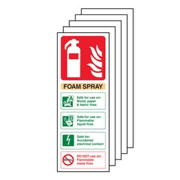 5PK - Foam Spray Safe For Electrical Fire Extinguisher