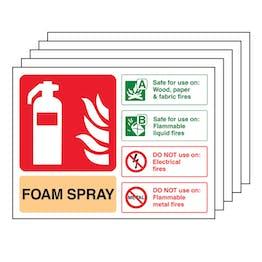 5PK - Foam Spray Fire Extinguisher - Landscape