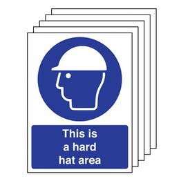 5PK - This Is A Hard Hat Area - Portrait