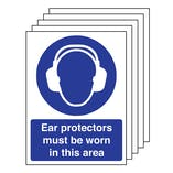 5PK - Ear Protectors Must Be Worn - Portrait