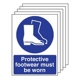 5PK - Protective Footwear Must Be Worn - Portrait