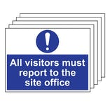 5PK - Visitors Report To Site Office  - Large Landscape