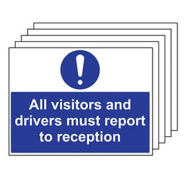 5PK - All Visitors & Drivers Report To Reception