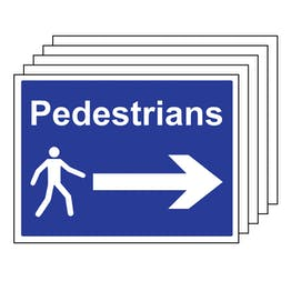 5PK - Pedestrians - Arrow Right - Large Landscape