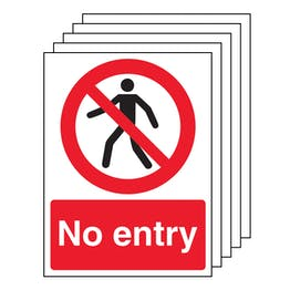 5PK - No Entry With Man - Portrait
