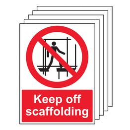 5PK - Keep Off Scaffolding - Portrait