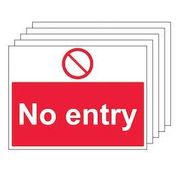 5PK - No Entry - Large Landscape