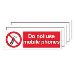 5PK - Do Not Use Mobile Phones - Landscape