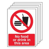5PK - No Food Or Drink In This Area - Portrait