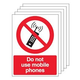 5PK - Do Not Use Mobile Phones - Portrait