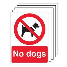 5PK - No Dogs - Red Background