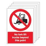 5PK - No Forklift Trucks Beyond - Portrait