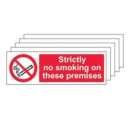 5PK - Strictly No Smoking On These Premises - Landscape