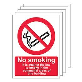 5PK - No Smoking In Communal Area - Portrait