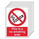 5PK - This Is A No Smoking Area - Portrait