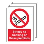 5PK - Strictly No Smoking On These Premises - Portrait