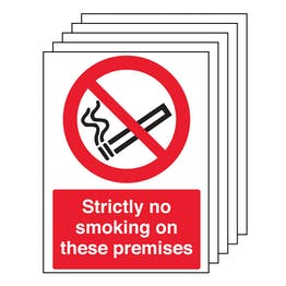 5PK - Strictly No Smoking On These Premises - Portrait