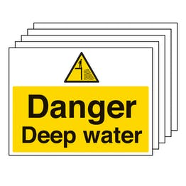 5PK - Danger Deep Water - Large Landscape