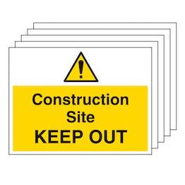 5PK - Construction Site Keep Out - Large Landscape