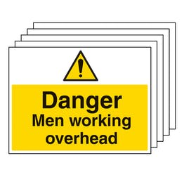5PK - Danger Men Working Overhead - Large Landscape