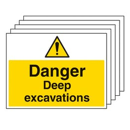5PK - Danger Deep Excavations - Large Landscape