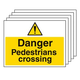 5PK - Danger Pedestrians Crossing