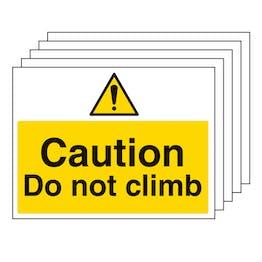 5PK - Caution Do Not Climb - Large Landscape
