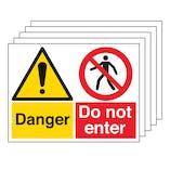5PK - Danger/Do Not Enter - Large Landscape