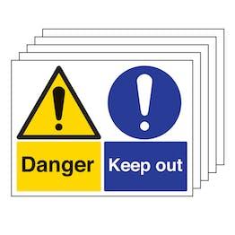 5PK - Danger/Keep Out - Large Landscape