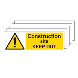 5PK - Construction Site Keep Out - Landscape