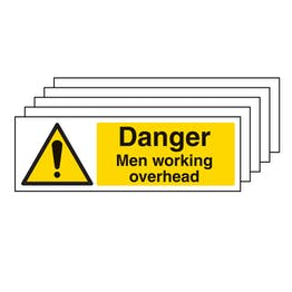 5PK - Danger Men Working Overhead - Landscape