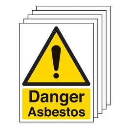 5PK - Danger Asbestos - Portrait