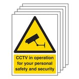 5PK - CCTV In Operation For Your Personal Safety - Portrait