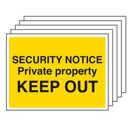5PK - Security Notice, Private Property, Keep Out