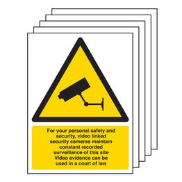 5PK - CCTV - For Your Personal Safety and Security