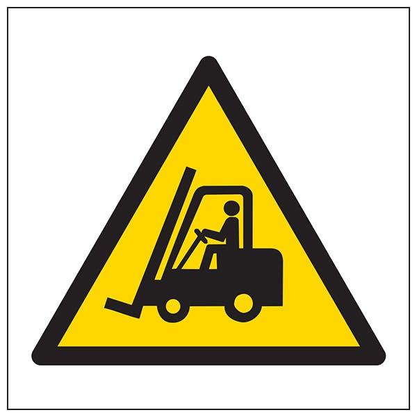 Warning Forklift Trucks Symbol