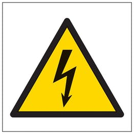 Eco-Friendly Warning Electric Symbol