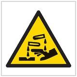 Warning Corrosive Symbol