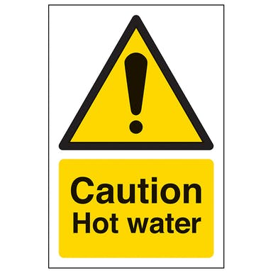 Caution Hot Water - Portrait