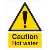 Caution Hot Water - Portrait