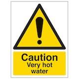 Caution Very Hot Water - Portrait