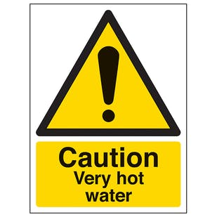 Caution Very Hot Water - Portrait