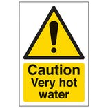 Eco-Friendly Caution Very Hot Water - Portrait