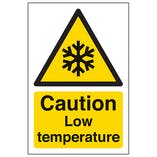 Caution Low Temperature - Portrait