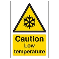 Caution Low Temperature - Portrait