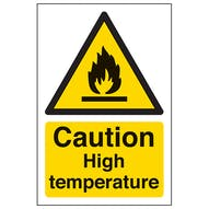 Caution High Temperature - Portrait