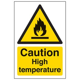 Caution High Temperature - Portrait