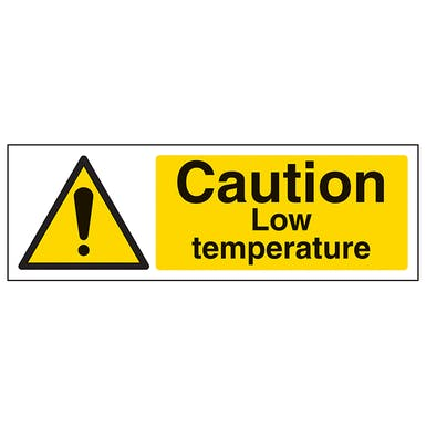 Caution Low Temperature - Landscape