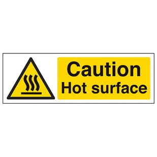 Caution Hot Surface - Landscape