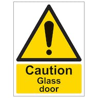 Caution Glass Door - Portrait